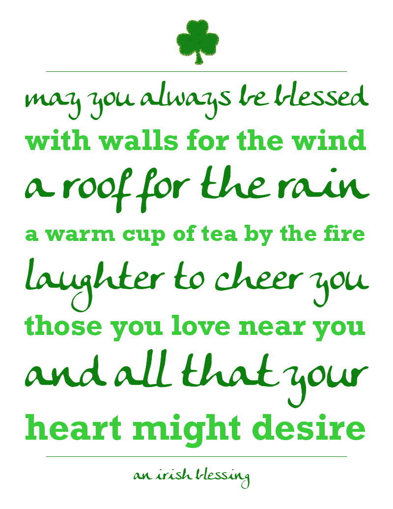 photograph about Printable Irish Blessing referred to as Irish Blessing Printables A Evening Owl Site