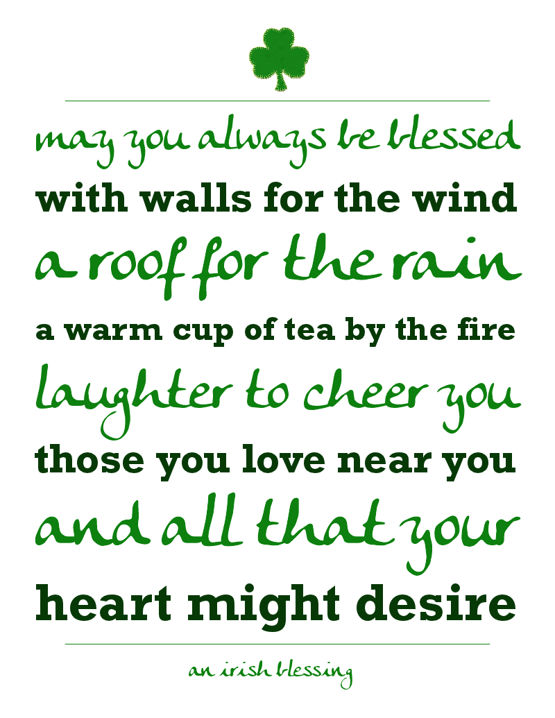 free st patricks day printable an irish blessing stpatricks