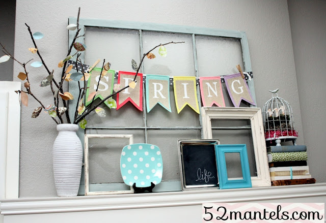Spring Mantel by 52 Mantels