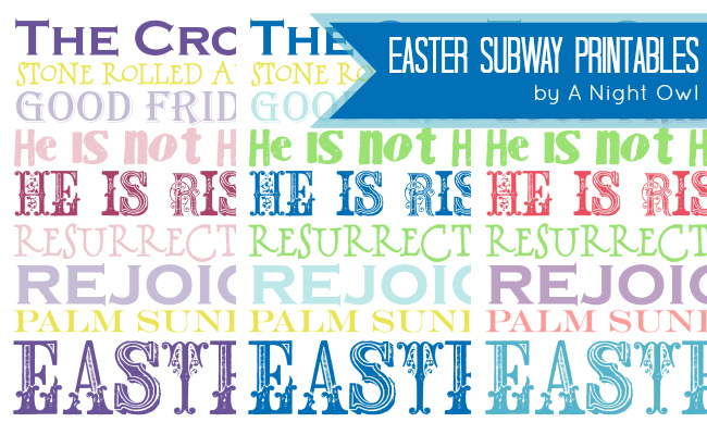 Easter Subway Printables at @anightowlblog