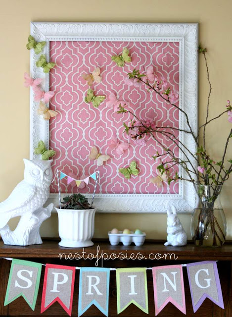 Spring Mantel by Nest of Posies