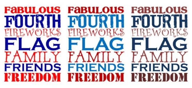 FREE 4th of July subway printables