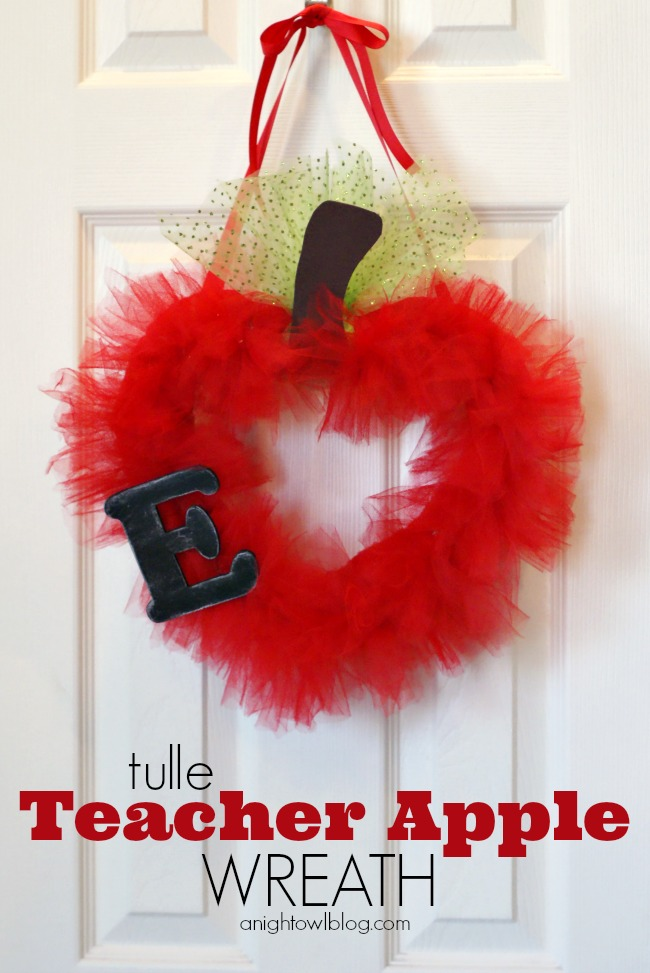 Tulle Teacher Le Wreath Gifts Backtoschool School