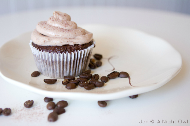 Mmmmm...Mocha Cappuccino Hazelnut Cupcakes! Chocolate and coffee in a cupcake sounds amazing!