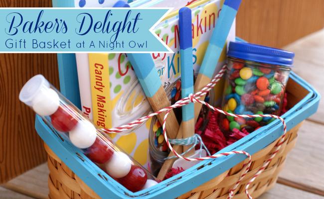 Baker's Delight Gift Basket with DecoArt at @anightowlblog