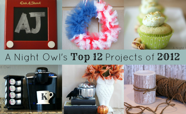 A Night Owl's Top 12 Projects of 2012