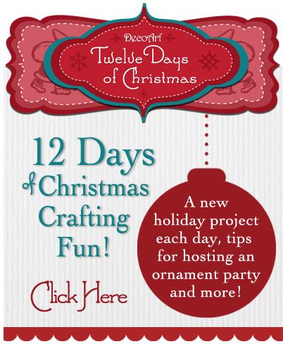 DecoArt 12 Days of Christmas Crafting Fun!