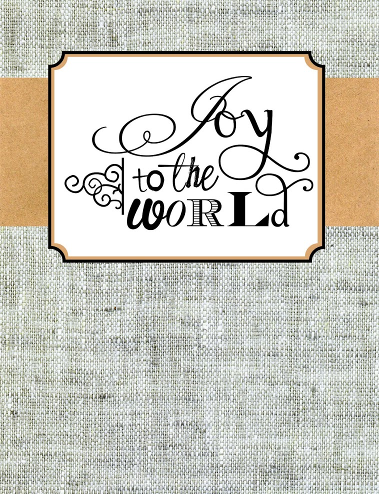 This FREE Joy to the World Printable is perfect for Christmas! Download at anightowlblog.com