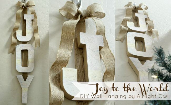 Project Home Joy To The World Diy Wall Hanging A Night