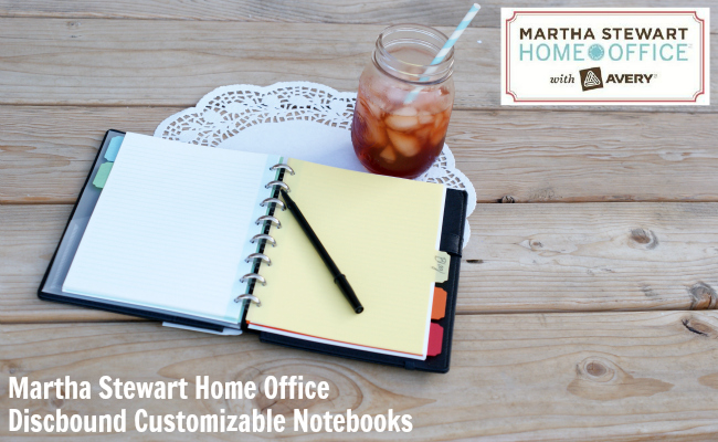 Martha Stewart  Home Office with Avery Discbound Customizable Notebooks Review at @anightowlblog