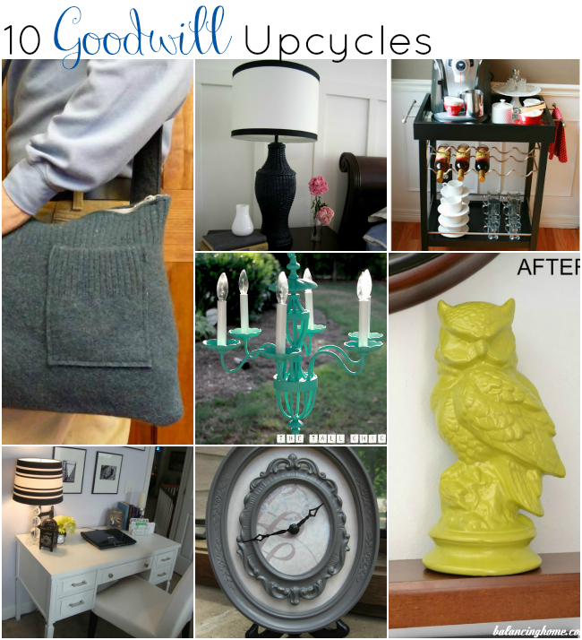10 Fabulous Goodwill Upcycle Projects