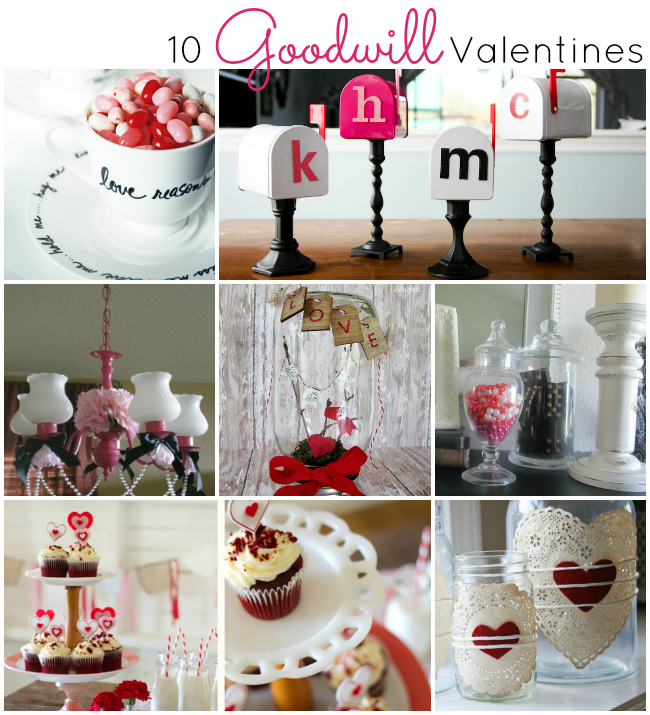 Love these adorable Valentines Projects you can make from thrifted items - great ideas at a great price!