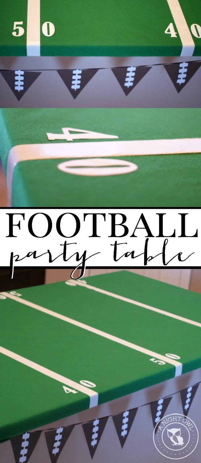 Easy Football Field Party Table | anightowlblog.com