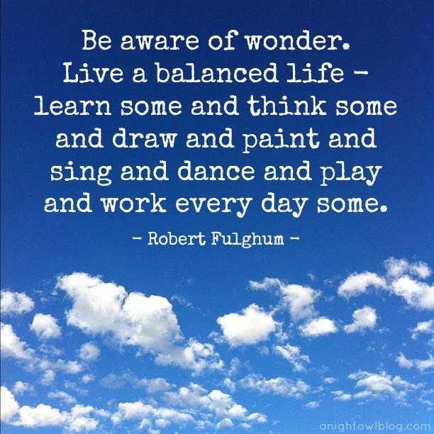 Live a Balanced Life Quote