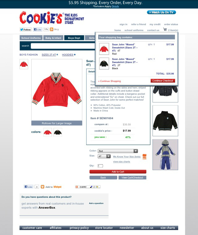 Sean John Maxed Sweatshirt 2T-4T #CookiesKids