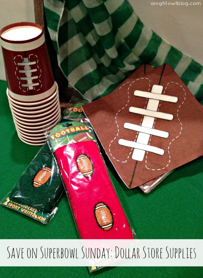 Shop the Dollar Store for Superbowl Sunday! { anightowlblog.com } #ThriftyThursday #Superbowl #Party