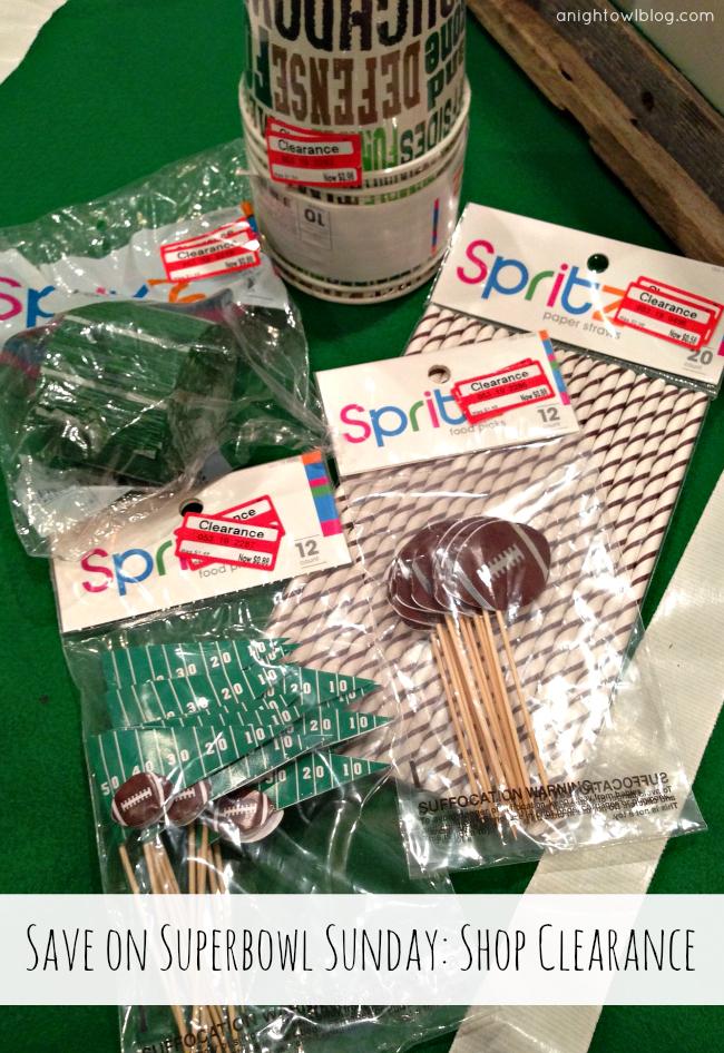 Shop clearance items year-round for Superbowl Sunday! { anightowlblog.com } #ThriftyThursday #Superbowl #Party