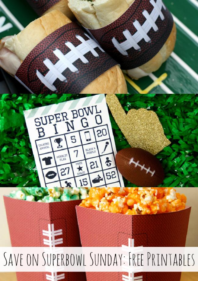 Use free printables for Superbowl Sunday! { anightowlblog.com } #ThriftyThursday #Superbowl #Party