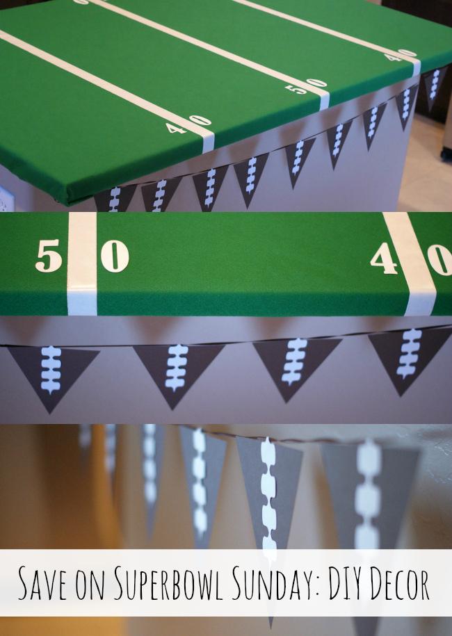 Make some DIY Decor for Superbowl Sunday! { anightowlblog.com } #ThriftyThursday #Superbowl #Party