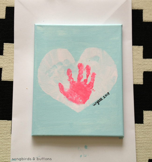 Children's Valentine's Day Painting by Songbirds & Buttons