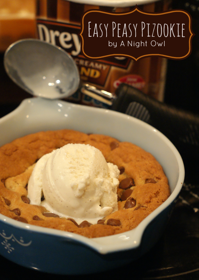 How to make your own BJ's or Oregano's Pizookie (Pizza Cookie) at home by { anightowlblog.com }