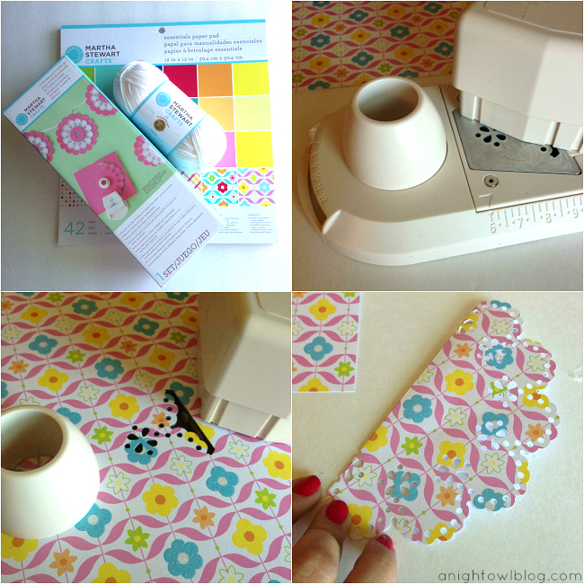 Paper Doily Bunting Tutorial at { anightowlblog.com }