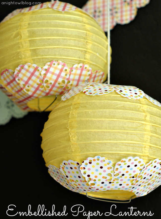 Embellished Paper Lanterns with Martha Stewart Crafts #12monthsofmartha