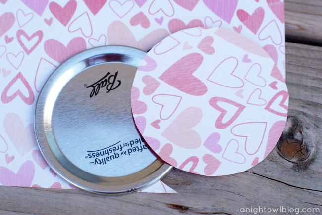 Cover Mason Jar Lids with Cute Cardstock!