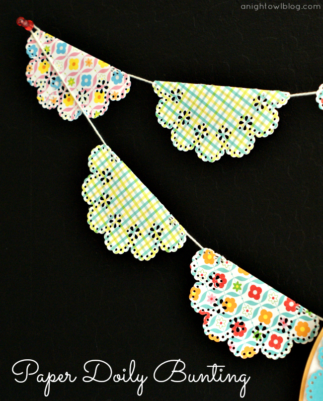 Paper Doily Bunting with Martha Stewart Crafts #12monthsofmartha