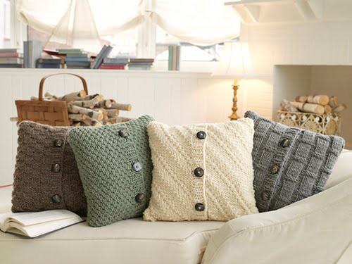 Recycled Sweater Pillows at PinCookie