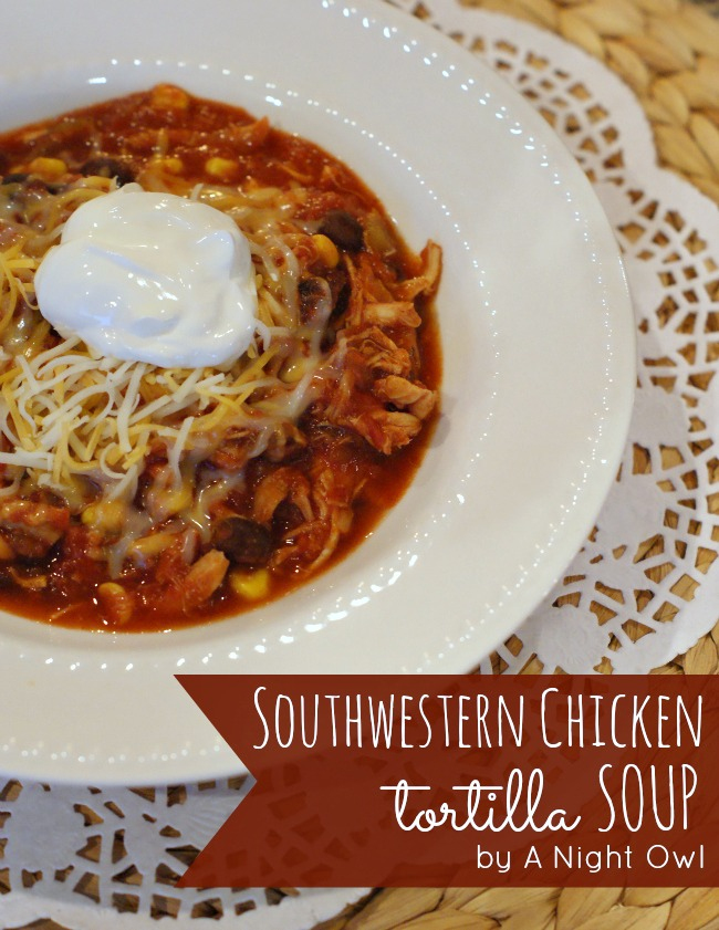 Southwestern Chicken Tortilla Soup | #chicken #tortilla #soup #recipes #cookclassico