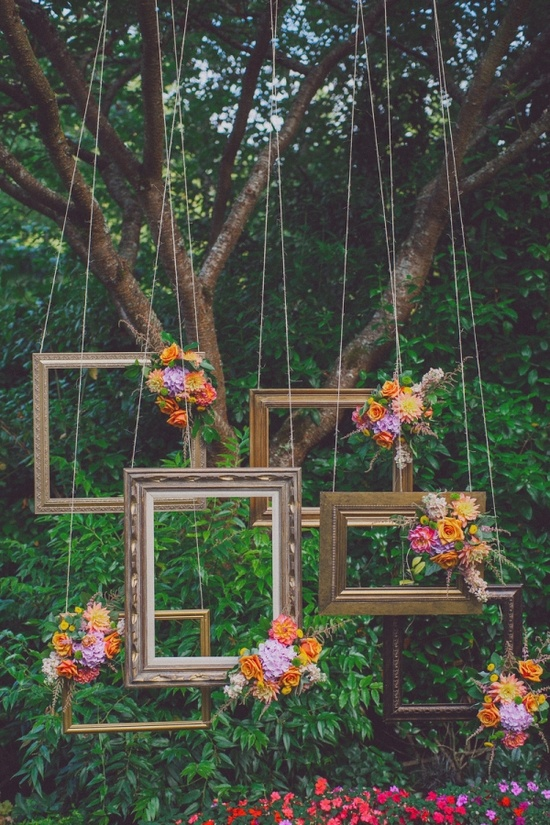 Frame and Flower Backdrop at Ruffled Blog