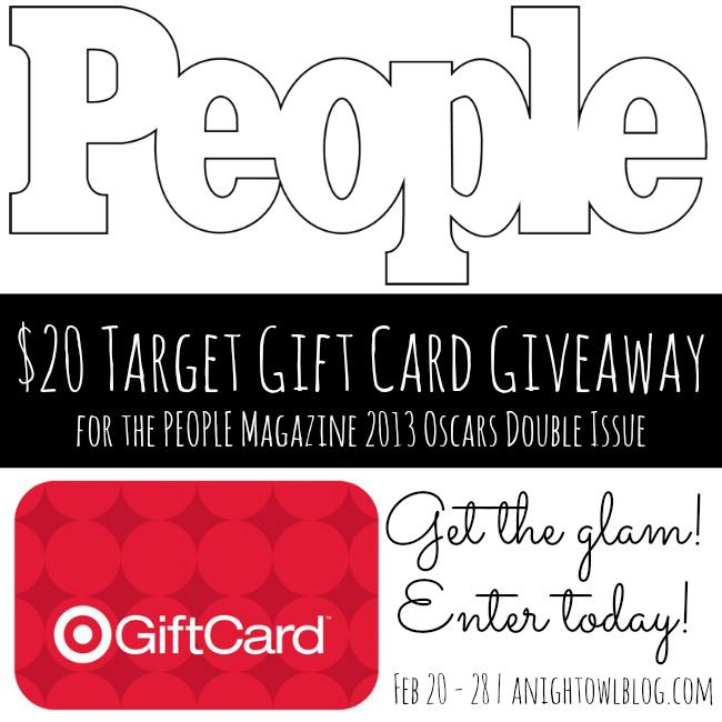 People Magazine - $20 Target Giftcard Giveaway