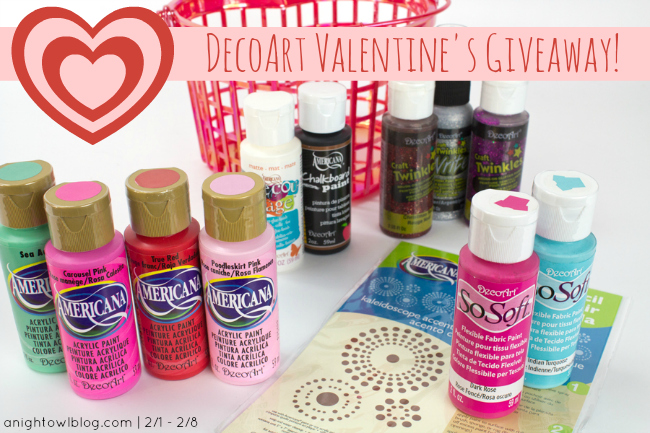 DecoArt Valentine's Day Giveaway at { anightowlblog.com }