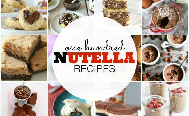 100 Nutella Recipes | anightowlblog.com