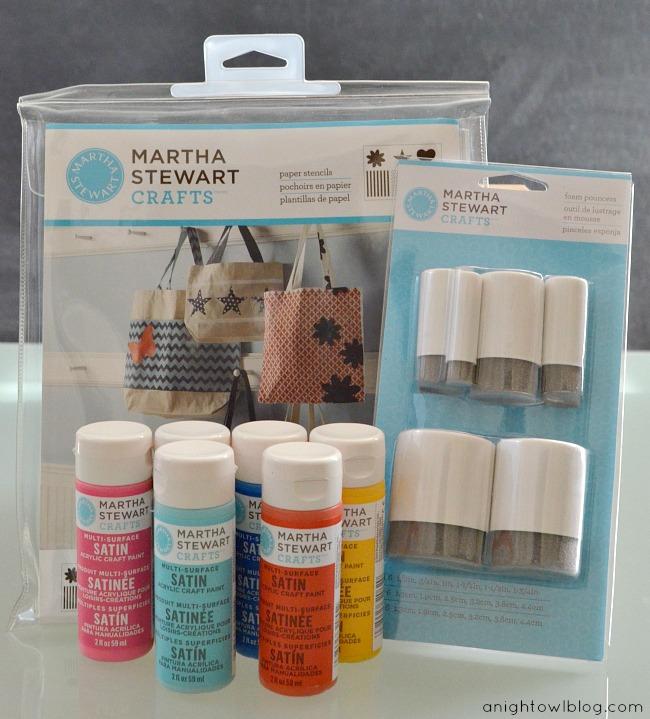 DIY Stenciled Wrapping Paper Supplies #MarthaStewartCrafts #12MonthsofMartha