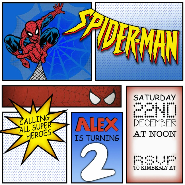 Spiderman Birthday Party Invitation by EmbellishedDesigns on Etsy #spiderman #birthday #party