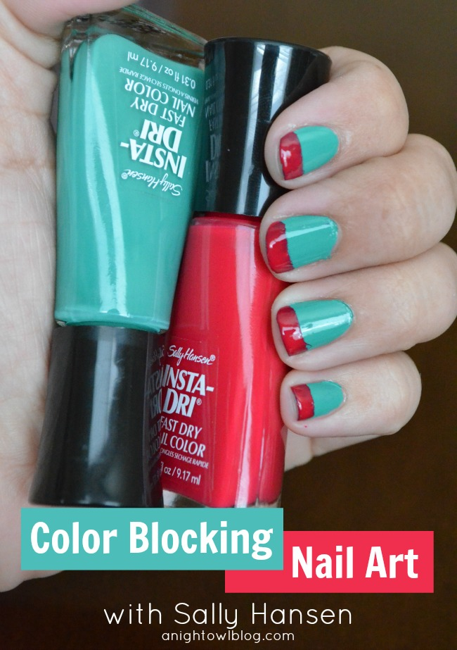 Color Blocking Nail Art Tutorial with Sally Hansen #IHeartMyNailArt