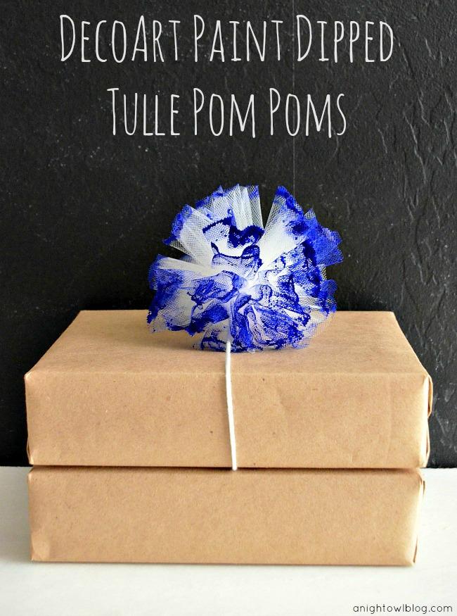 DecoArt Dipped Paint Tulle Pom Poms