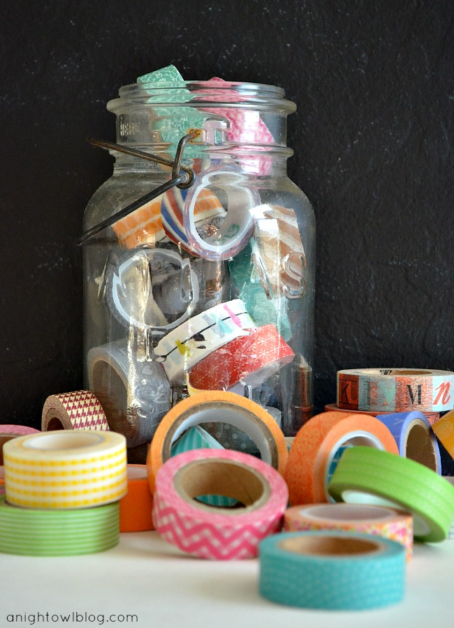 Such a fun way to organize your collection of washi tape! #washi #washitape #organization