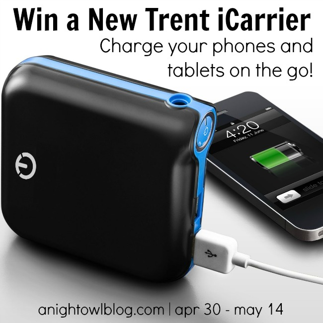 Win a New Trent iCarrier at anightowlblog.com
