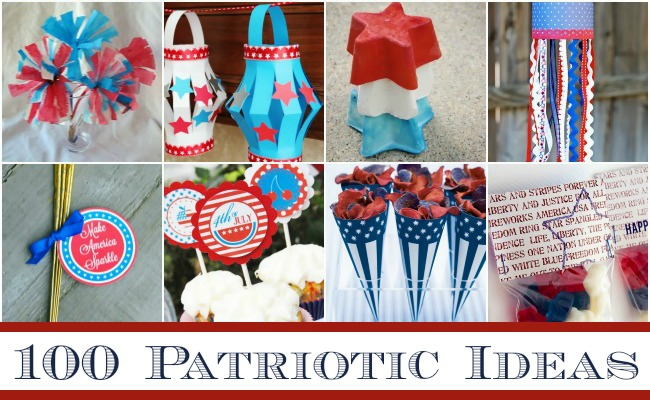 100 Perfectly Patriotic Ideas - Recipes, Decor, Crafts + MORE
