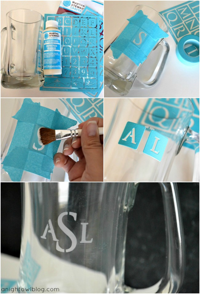 DIY Monogram Beer Mug Tutorial
