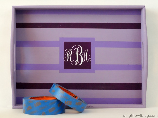 DIY Mother's Day Monogrammed Tray with ScotchBlue™ Painter's Tape