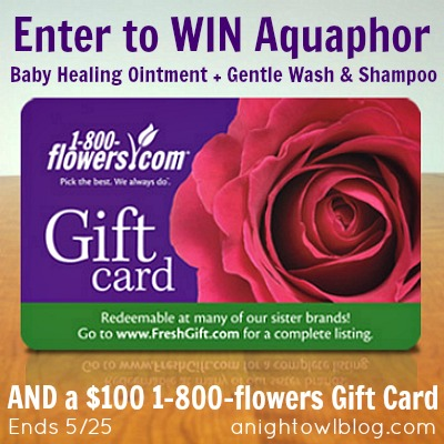 Enter to WIN Aquaphor goodies and a $100 1-800-flowers Gift Card