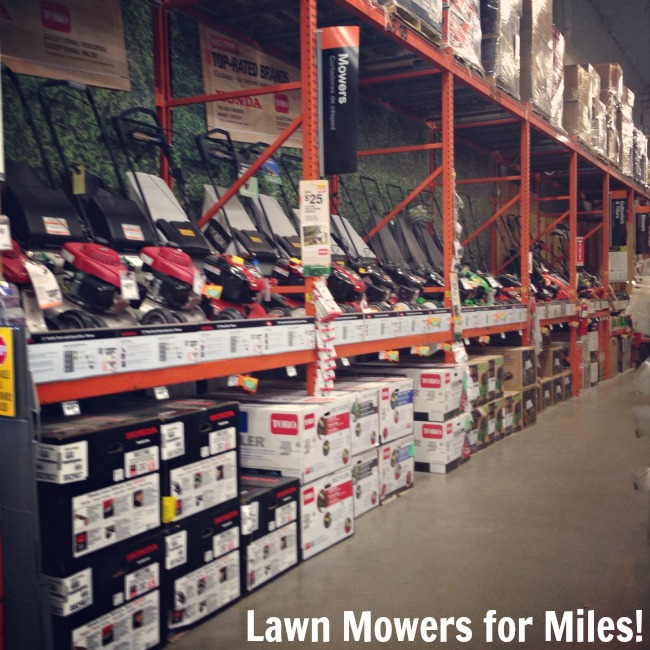 Great selection of lawn mowers at The Home Depot #DigIn