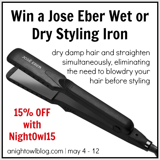 Jose Eber Wet or Dry Styling Iron Giveaway