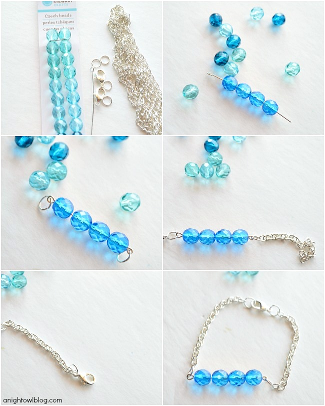 DIY Ombre Stacker Bracelets with Martha Stewart Crafts® Jewelry | #12monthsofmartha #marthastewartcrafts #jewelry #tutorial