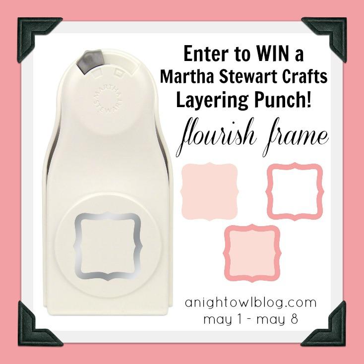 Martha Stewart Crafts Giveaway - Flourish Frame Layering Punch