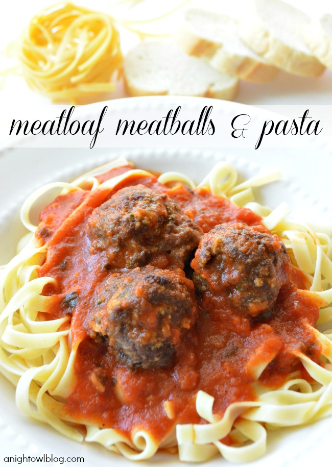 Meatloaf Meatballs and Pasta - Recipes from World Market